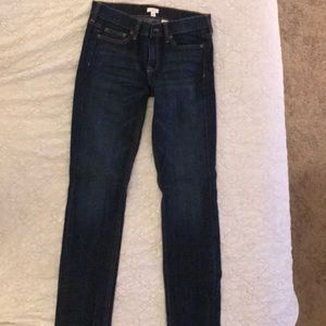 JCrew dark wash straight leg jean